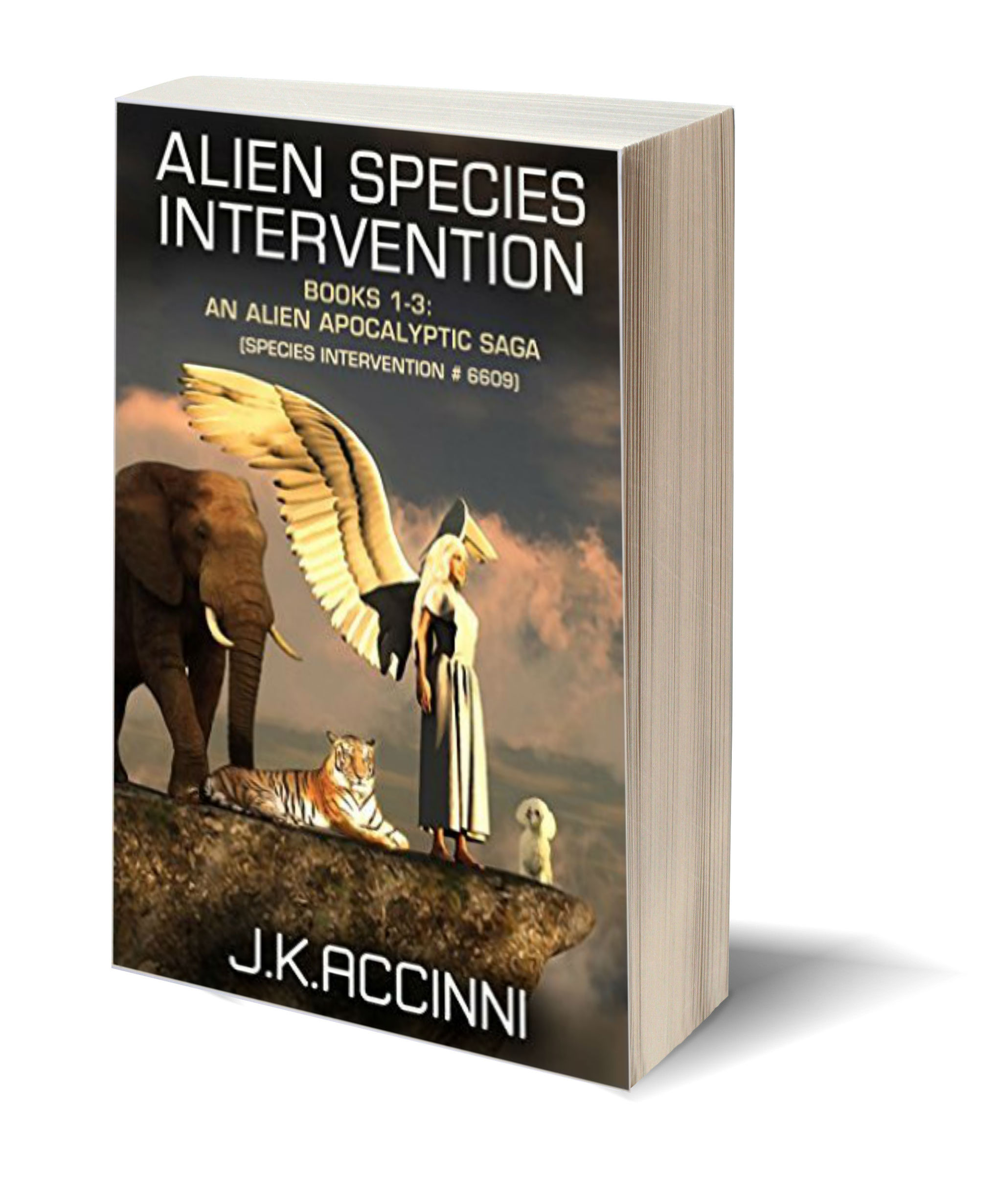 Alien specie 3D-Book-Template