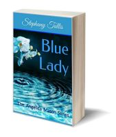 Blue lady 3D-Book-Template