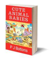Cute animal babies 3D-Book-Template
