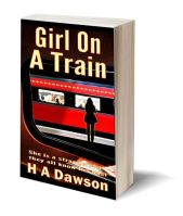 Girl on a train 3D-Book-Template