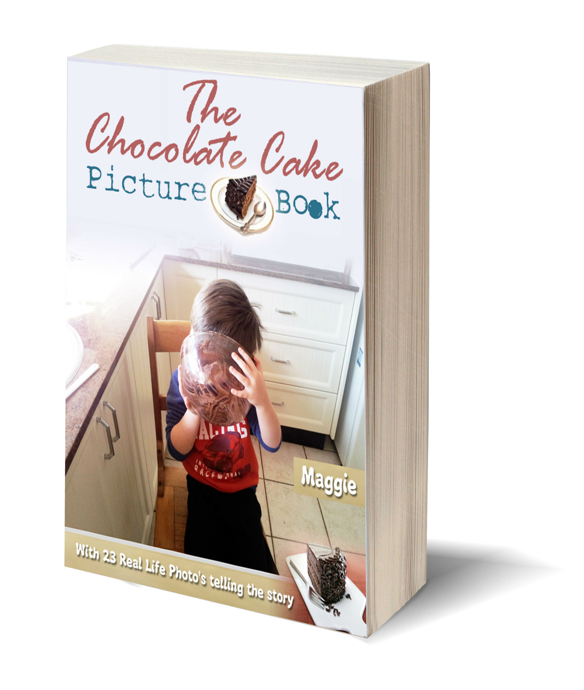 The chocolate cake picture book 3D-Book-Template