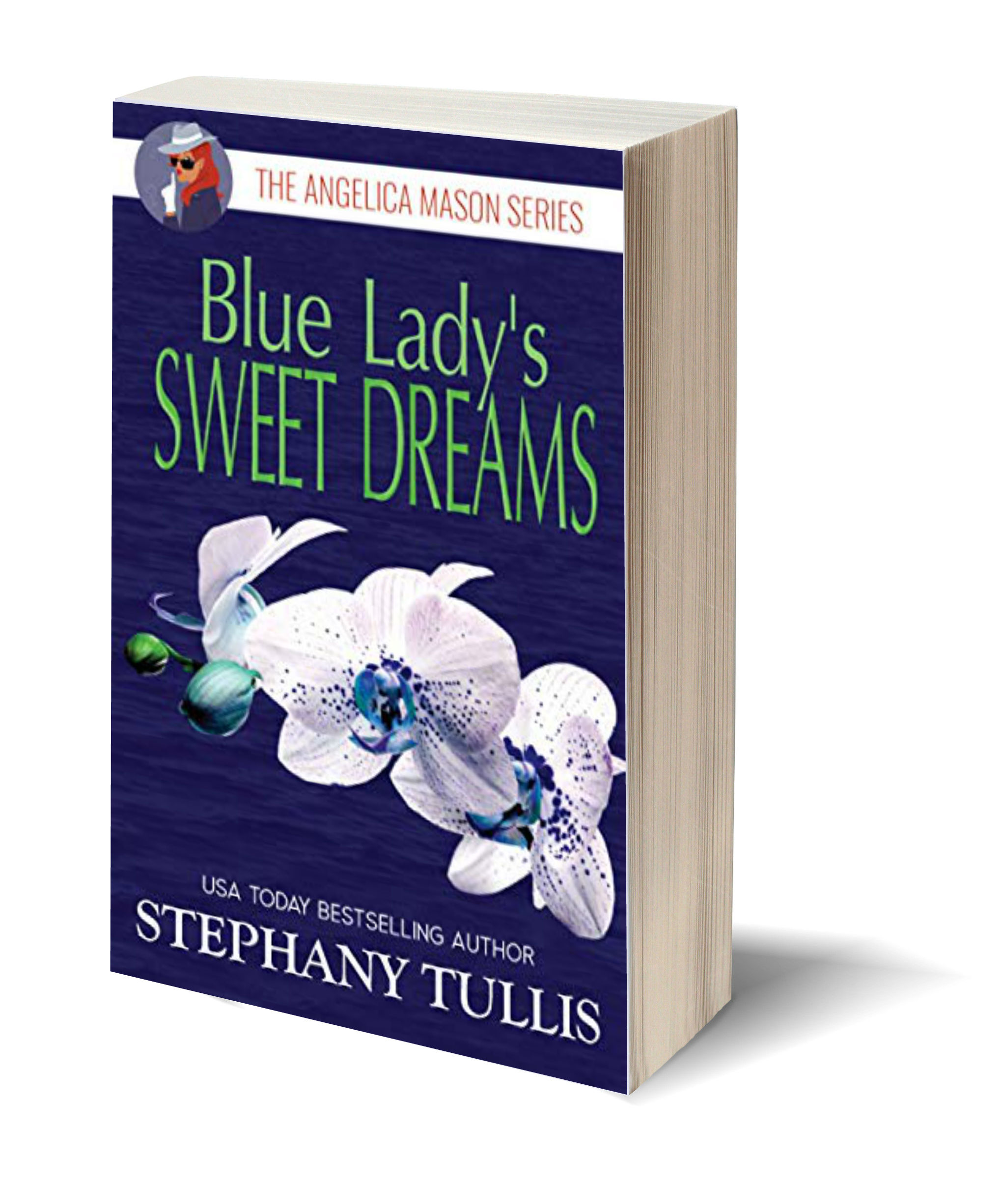 Blue Lady's sweet dreams USA 3D-Book-Template
